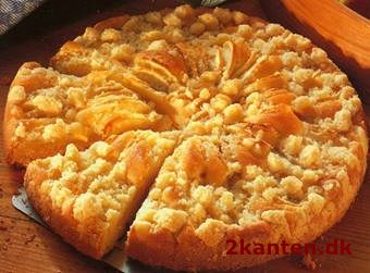 Æblekage med smuldredej - 2kanten.dk